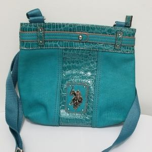 U.S Polo Assn Teal Crossbody